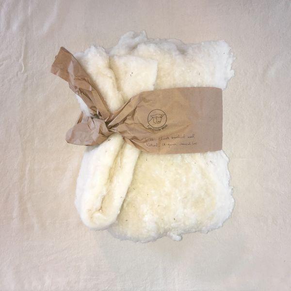 Full Circle Wool Natural Wool Batting - 1 lb
