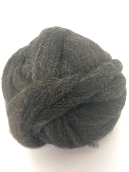 Combed Top - Storm -Rambouillet Wool Roving - 4 oz bump