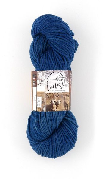 Clarks Valley Dark Sky, Naturally Dyed Aran Wool Yarn