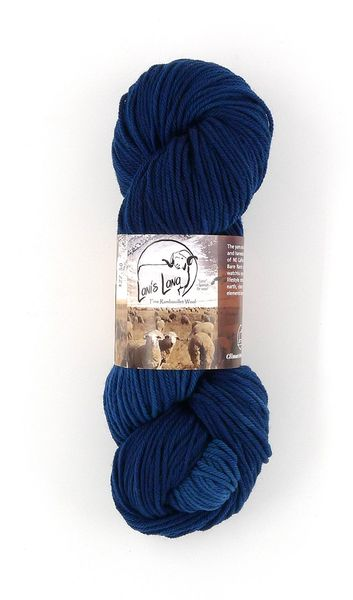 Rye Patch Dark Sky, Naturally Dyed Worsted Wool Yarn