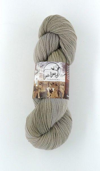 Buffalo Hills Sand, Naturally Dyed Fingering Wool Yarn