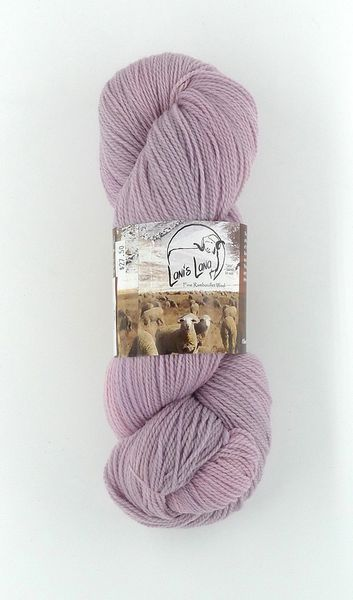 High Desert Hollyhock, Naturally Dyed Fingering Wool Yarn