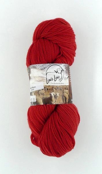 High Desert Red Rock, Naturally Dyed Fingering Wool Yarn