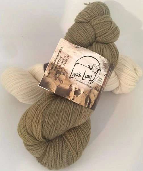 High Desert Willow, Naturally Dyed Fingering Wool Yarn