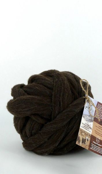 Combed Top - Thunder - Rambouillet Wool Roving - Natural Color 4 oz Wool Roving