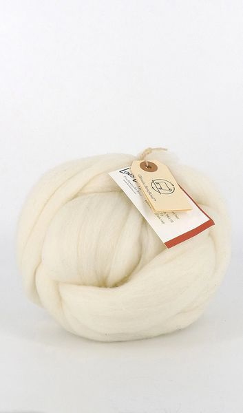 Combed Top - Cloud - Rambouillet Wool Roving 4 oz bump