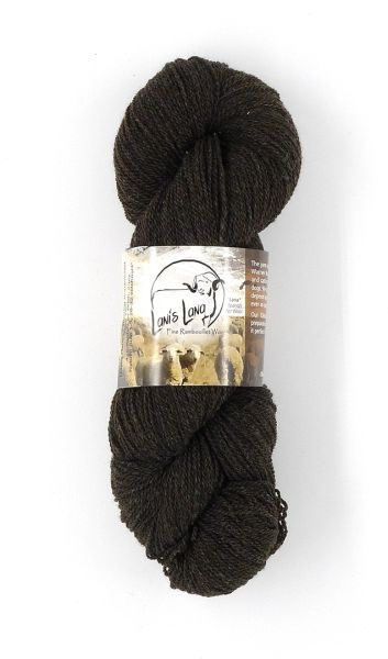 Hayes Range Obsidian. Naturally Colored Fingering Weight 2-ply Yarn