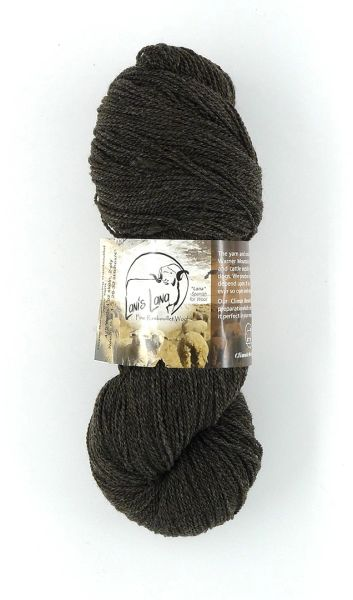 Hayes Range Charcoal. Naturally Colored Fingering Weight 2-ply Yarn