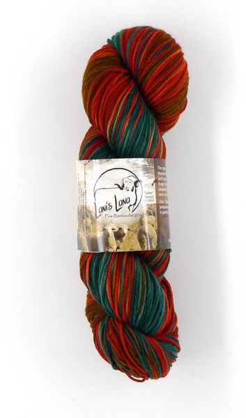 Cedar Pass Mountain Mahogany Rambouillet Superwash Sock Yarn