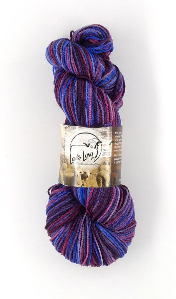 Cedar Pass Elderberry Wine Rambouillet Superwash Sock Yarn