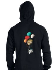 Astronaut with Planet Balloons Hoodie