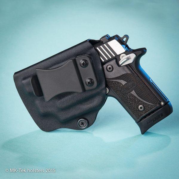 Sig P238 with Sig Laser or Crimson Trace Laser IWB Holster