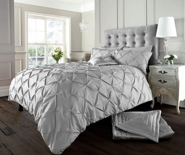 Alford silver duvet cover