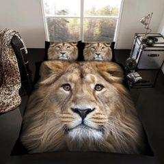 3D print Lion cotton blend duvet cover