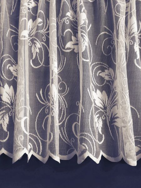 Floral Spray white net curtains
