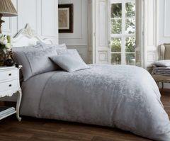 Vincenza silver cotton blend duvet cover
