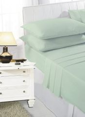 Mint green fitted sheet