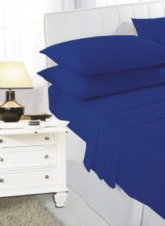 Royal blue fitted sheet