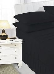 Black frilled valance sheet