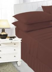 Chocolate frilled valance sheet