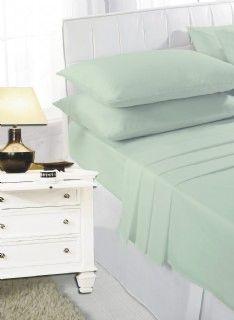 Mint green flat sheet