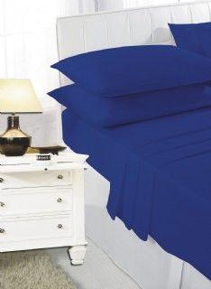 Royal blue flat sheet