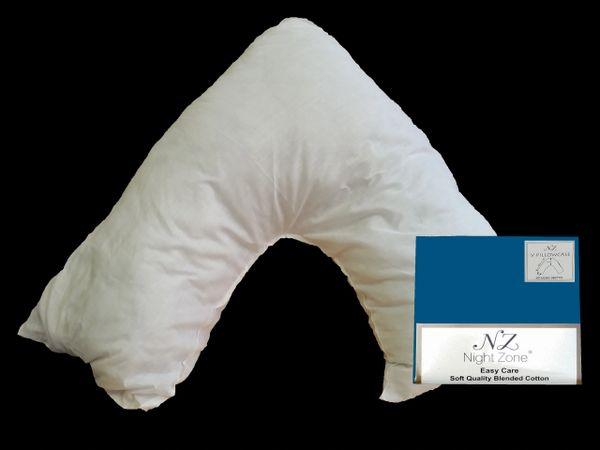 Teal v shaped pillow case