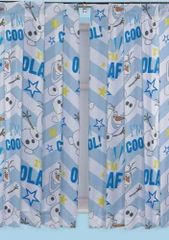 Frozen Olaf tape top curtains