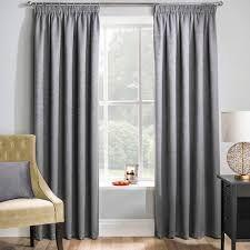 Matrix grey blockout pencil pleat curtains
