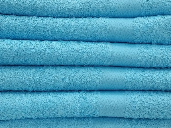 Sky blue 100% cotton hand towels