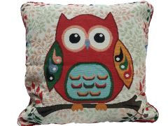 Owl tapestry cushion cover