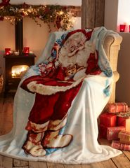 Father Christmas fleece throw / blanket