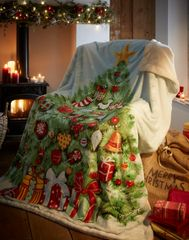 Christmas Tree fleece throw / blanket