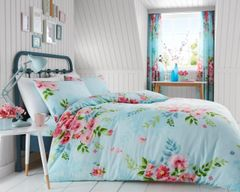Alice pale blue cotton blend duvet cover