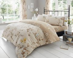 Birdie Blossom natural cotton blend duvet cover