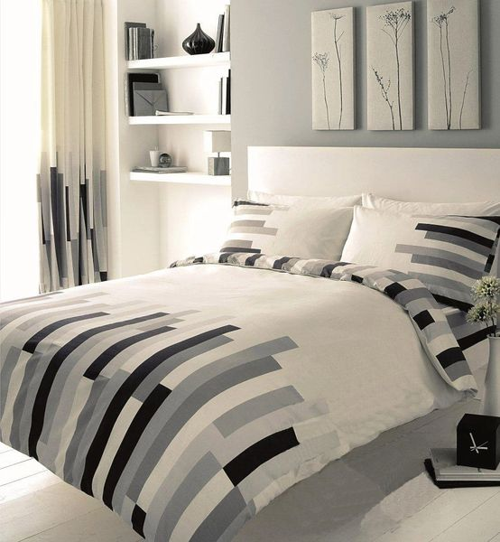Blocks grey & cream duvet cover