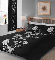 Chantilly black & white cotton blend duvet cover