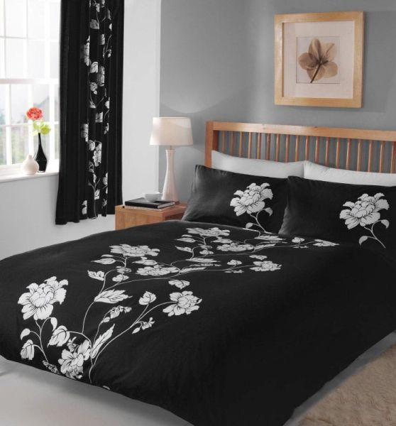 Chantilly black & white duvet cover