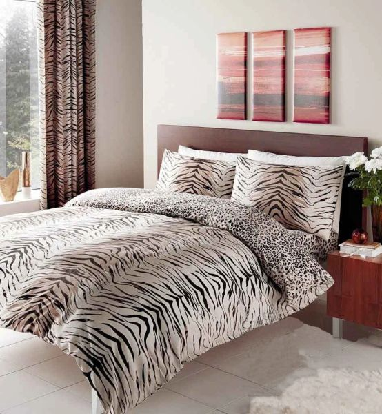 Tiger Skin cotton blend duvet cover