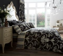 Richmond black cotton blend duvet cover