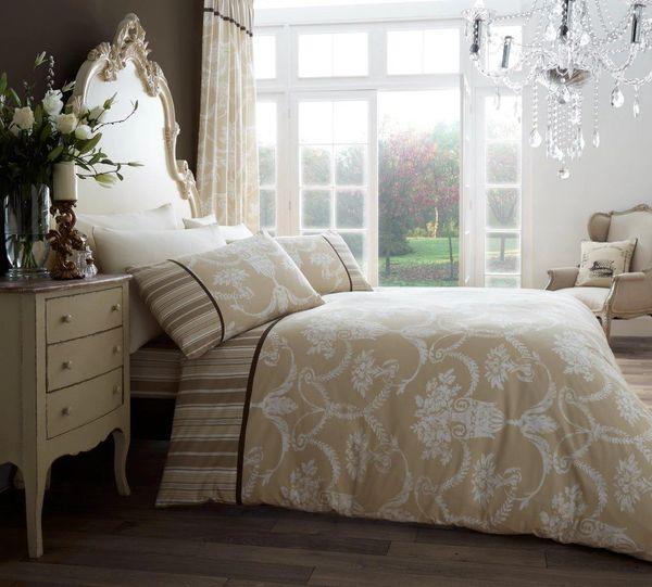 Richmond natural cotton blend duvet cover