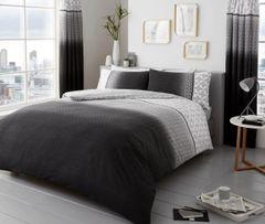 Urban Ombre grey cotton blend duvet cover