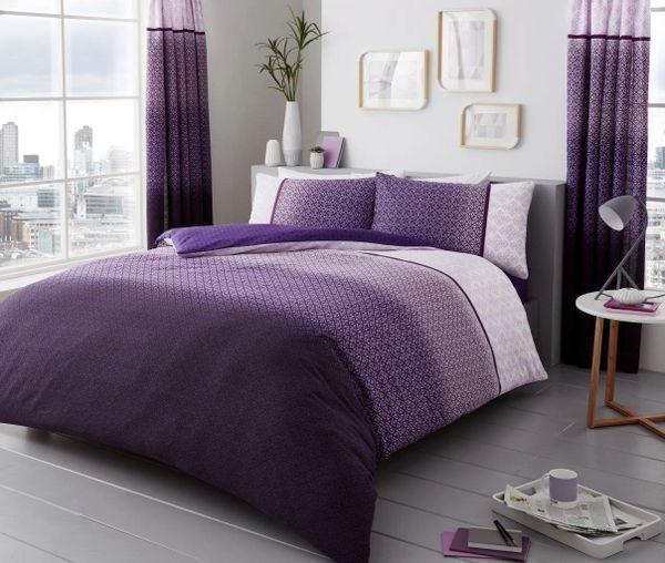 Urban Ombre purple duvet cover