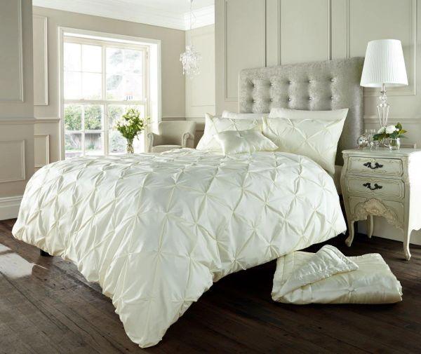 Alford cream cotton blend duvet cover