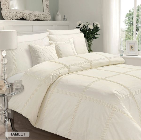 Hamlet cream cotton blend duvet cover