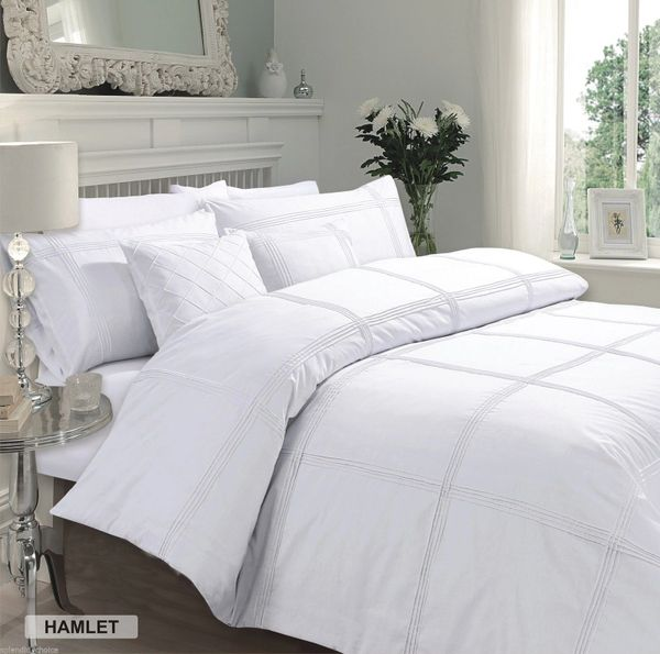 Hamlet white cotton blend duvet cover