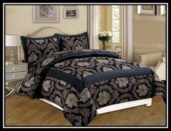 Betty black 3 piece bedspread