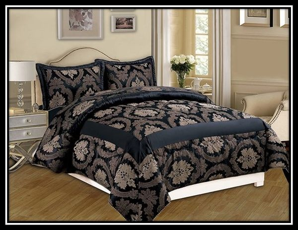Betty black 3 piece bedspread