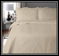 Arcade natural 3 piece bedspread