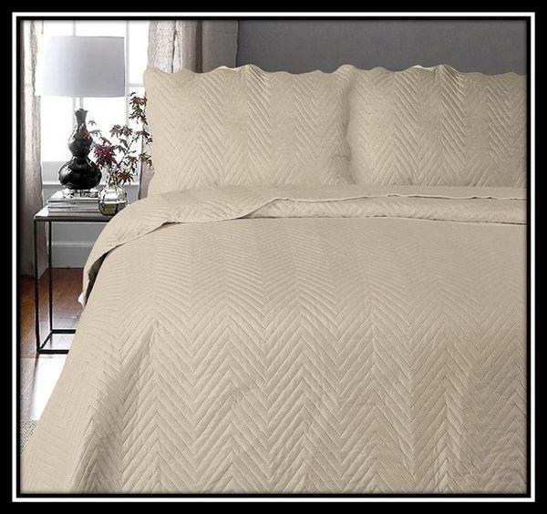 Arcade natural 3 piece bedspread
